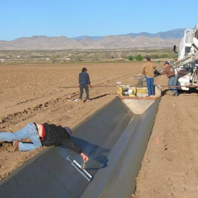 Snake Ranch Farm cement ditch lining project