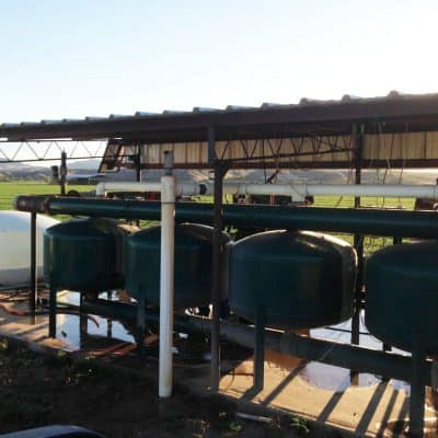 Snake Ranch Farm drip irrigation pumping station