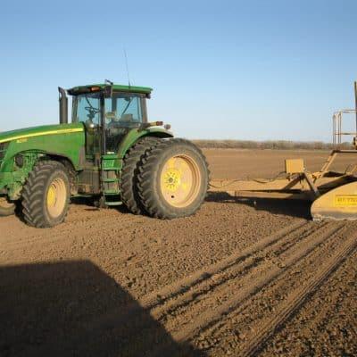 Snake Ranch Farm laser leveling equipment