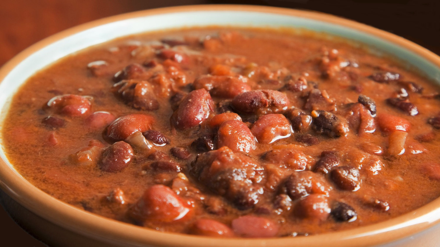 Bowl of fresh TexMex chili